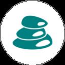 hot stones sauna icon