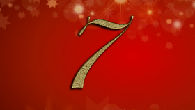 number 7 on red Christmas background