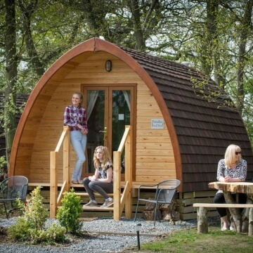 glamping glamorous camping pod pods tipi tipis yurt yurts tent tents shepherd's huts converted
