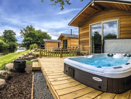 Perthshire Riverside Lodges Braidhaugh Holiday Park scotland scottish