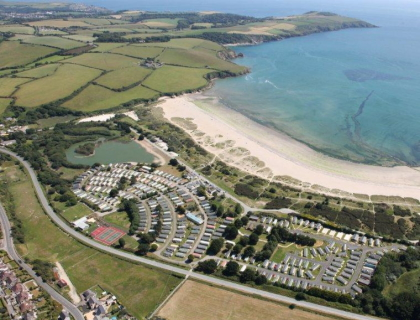 Par Sands Holiday Park cornwall coast beach ocean