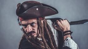 menacing pirate wielding a knife