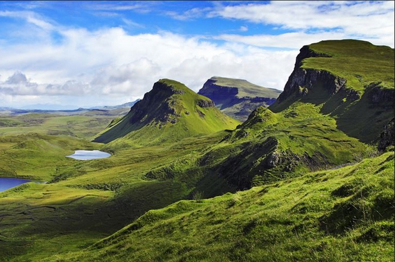 beautiful scenic panorama of the Scottish Highlands