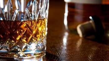 whisky glass on a bar